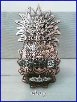 Navy Chief CPO Challenge Coin HAWAIIAN PINEAPPLE SUPER RARE VERY HEAVY