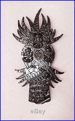Navy Chief CPO Challenge Coin HAWAII Black TIKI Doll non nypd msg RARE