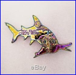 Navy Chief CPO Challenge Coin HAWAII Rainbow HAMMERHEAD shark non nypd msg RARE