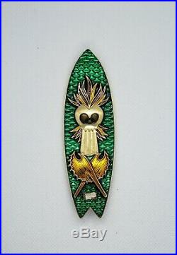 Navy Chief CPO Challenge Coin HAWAII Shiny GOLD Surfboard no nypd msg SERIALIZED