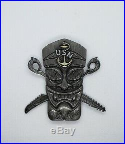 Navy Chief CPO Challenge Coin HAWAII Tiki WEAPONS non nypd msg 3 PIECES RARE