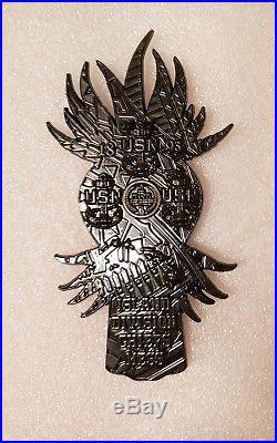 Navy Chief CPO Challenge Coin Hawaii TIKI DOLLRARE BLACKnon nypd msg hawaiian
