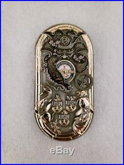 Navy Chief CPO Challenge Coin JAPAN door Hatch non nypd msg Handle Spins