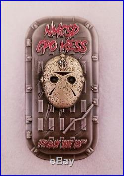 Navy Chief CPO Challenge Coin JASON door hatch SERIALIZED non nypd msg