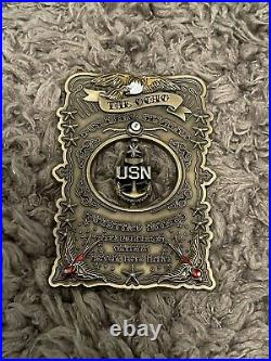 Navy Chief CPO Challenge Coin THE OCHO E-8 SPINNER SUPER RARE & HARD FIND