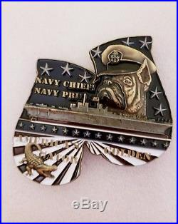 Navy Chief CPO Challenge Coin USS BOXER Gloves boxing LIMITED non nypd msg