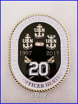 Navy Chief CPO Challenge Coin USS CONSTITUTION 2017 non nypd msg SERIALIZED