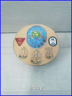 Navy Chief CPO Challenge Coin USS MAKIN ISLAND COVER EXTREMELY HARD TO FIND