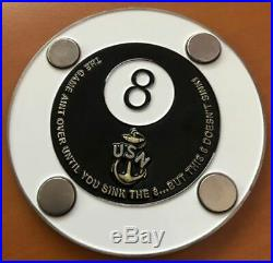 Navy Chief, CPO Challenge Coin USS MAKIN ISLAND LHD 8 Combo Cover Coin
