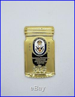 Navy Chief CPO Challenge Coin USS Philippine Sea MASON JAR non nypd msg 50 MADE