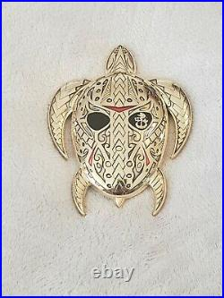 Navy Chief CPO challenge coin HAWAIIAN Turtle Very Heavy and RARE msg
