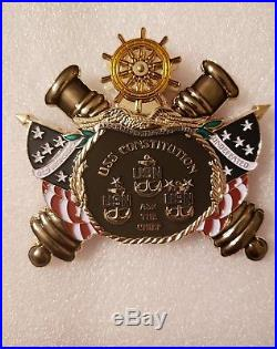 Navy Chief CPO challenge coin USS Constitution MASSIVE non nypd msg SPINNER