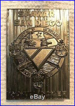 Navy Chief Challenge coin SPAWAR CHARGEBOOK VERY RARE SILVER 2019