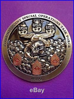 Navy Chief Coin. Navy SEALs 2017 Iraq CJSO-TF Deployment coin. Authentic! DmX