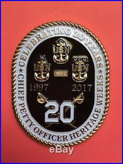 Navy Chief Coin. USS Constitution 20yr Heritage coin. Genuine/Authentic! RARE