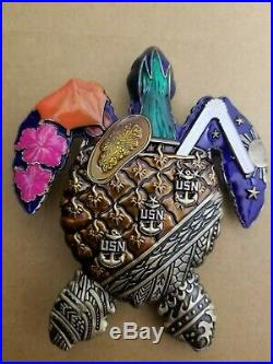 Navy Chief Cpo Challenge Coin (Hawaii Sea Turtle)