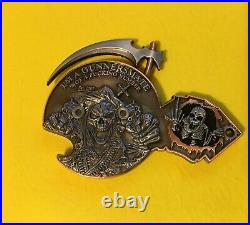 Navy Chief, Navy SEAL Shooting Reaper coin. DEVGRU/SEAL Team 6, Non-Chief coin