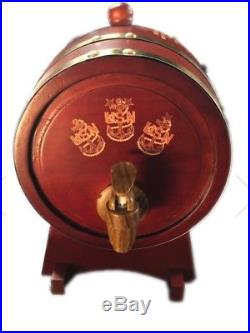 Navy Chief whiskey/wine Oak Barrel with4 coasters