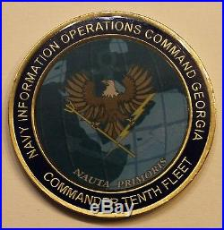 Navy Information Operations Commmand Georgia Commander 10th Fleet Challenge Coin