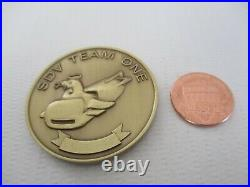 Navy SEAL Delivery Vehicle Team One SDVT-1 Brass Challenge Coin