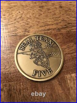 Navy SEAL Team Five V Golf Platoon Vintage Challenge Coin RARE