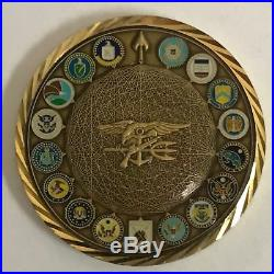 Navy SEALs Trident Spectre 2013 SPOOK CIA FBI USIC Logos 3D Webbed TRIDENT 2