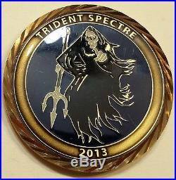 Navy SEALs Trident Spectre Spooks / Intelligence 2013 Navy Challenge Coin