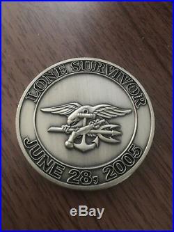 Navy Seal Lone Survivor Movie Challenge Coin. Very Very Rare