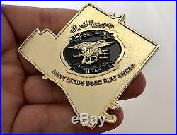 Navy Seal Team 3 Three Seals Nsw Bone Frog Sadr Iraq Oif Challenge Coin Non Cpo