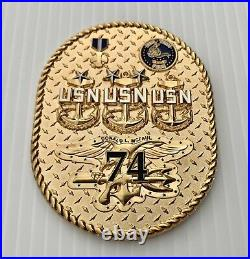 Navy Seal Team 4 Four USS Donald L Mcfaul DDG 74 CPO Mess Trident Challenge Coin