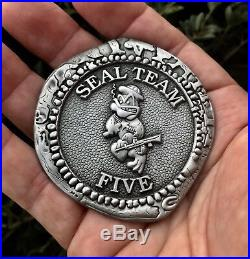 Navy Seal Team 5 Five V Usn Nsw Ussocom Jsoc Challenge Coin Doubloon Cpo Chief