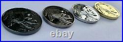 Navy Seal Team 6 DEVGRU Indian Skull Tribe Bone Frog Challenge Coins (4) Lot CPO