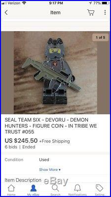 Navy Seal Team 6 Demon Hunters Tribe Nsw Figure Challenge Coin Non Cpo Nypd Lego