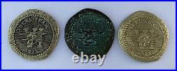 Navy Seal Team 6 VI DEVGRU NSW Assault Teams 3 Challenge Coin Set Doubloon CPO