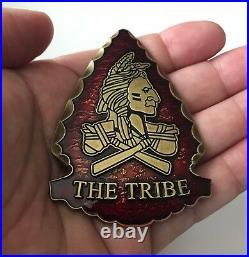Navy Seal Team 6 VI Six Devgru Nsw Indian Arrow Tribe Redmen Challenge Coin Cpo