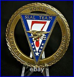 Navy Seal Team 7 Naval Special Warfare Rare Challenge Coin NON CPO CHIEF