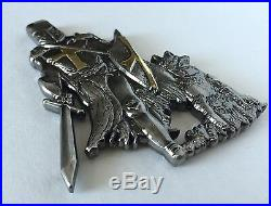 Navy Seals K9 Canine Dog Knight Crusader Trident Cpo Nsw Police Challenge Coin