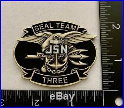 Navy Seals Savage Seal Team 3 NSW Trident Punisher Skull Frog Challenge Coin CPO