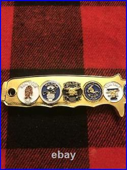 Navy Seals Seal Team 1 2 3 4 5 6 7 8 9 Trident Gold Knife CPO Challenge Coin