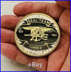 Navy Seals Seal Team 3 NSW Trident Bone Frogs Of War Sniper CPO Challenge Coin