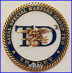 Navy USN SEAL NSW TD2 TRADET ST2 ST4 ST8 ST10 East Coast SEAL TEAMs 1.75 Coin