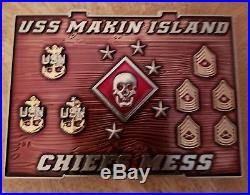 Navy chief challenge coin CPO PLAYSTATION! Limited Non msg nypd espo maple
