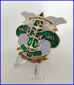 New Orleans Mardi Gras Mask Usn Navy Cpo Cpoa Chief Mess Challenge Coin Nypd Fbi