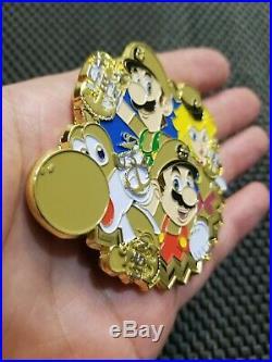 Nintendo Super Mario Challenge Coin Navy CPO, RARE Metal Collectible Medal MP10