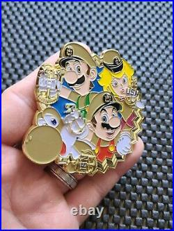 Nintendo US NAVY Super Mario Party 10 Challenge Coin Medal Rare Promo N64 WII DS