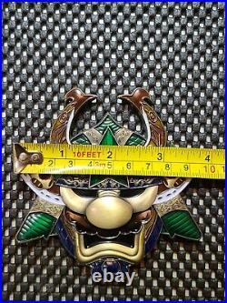 Nintendo US NAVY Super Mario Ronin challenge coin medal Bowser/Luigi Rare Promo