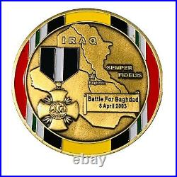 OPERATION IRAQI FREEDOM 23rd MARINES MEDAL OF HONOR NAVY CROSS CHALLENGE COIN