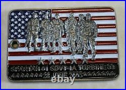 Operation RED WINGS 28Jun05 Spartan-1 Turbine 33 SDTV-1 Navy SEAL Challenge Coin