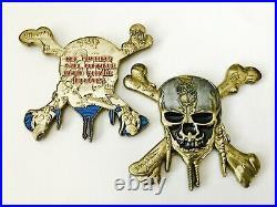 Pirates Caribbean Skull Cross Bones Ship Navy Cpo Chief Challenge Coin Cia Nypd