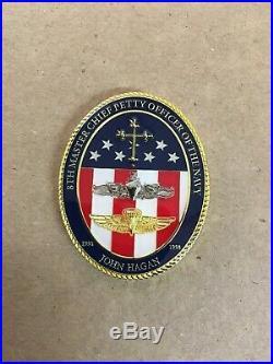 RARE MCPON 8, Cpo challenge coin, Navy Chief Challenge Coin, Challenge Coin